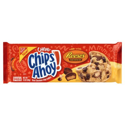 CHIPS AHOY! CHEWY REESE'S PEANUT BUTTER CUP COOKIES