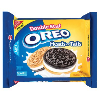NABISCO OREO HEADS OR TAILS SANDWICH COOKIES