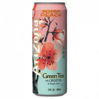 ARIZONA ICED TEA GREEN & GINSENG PEACH CAN