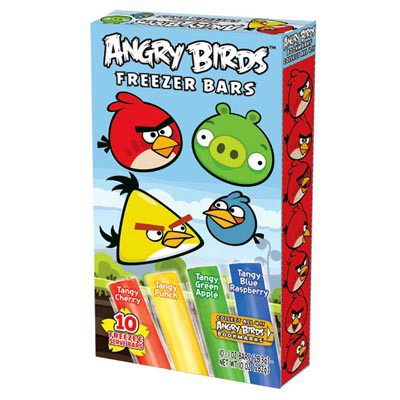 ANGRY BIRDS FREEZER BARS & POPS 10 BARS