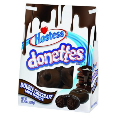 HOSTESS DONETTES DOUBLE CHOCOLATE MINI DONUTS