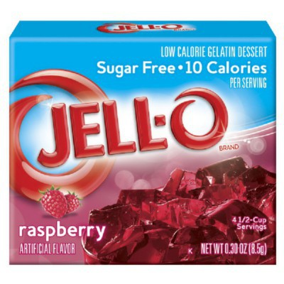 JELLO SUGAR FREE RASPBERRY