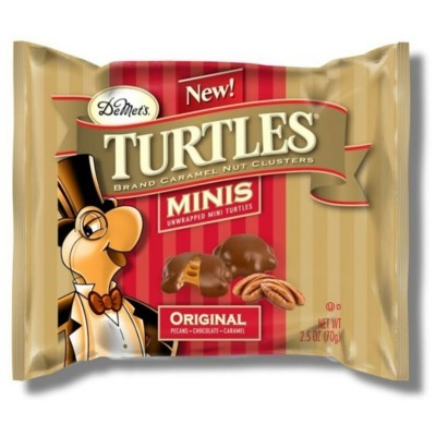 DEMET'S TURTLES MINIS ORIGINAL PECANS CHOCOLATE CARAMEL