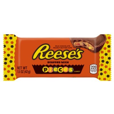 REESE'S 2 PEANUT BUTTER CUPS STUFFED WITH REESE'S PIECES