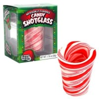 CANDY CANES SHOT GLASS MINI VERRE EN SUCRE D'ORGE