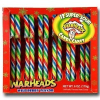 CANDY CANES WARHEADS SUPER SOUR WILD BERRY 12-stick box