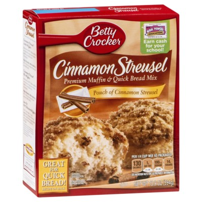 BETTY CROCKER CINNAMON STREUSEL MUFFIN MIX