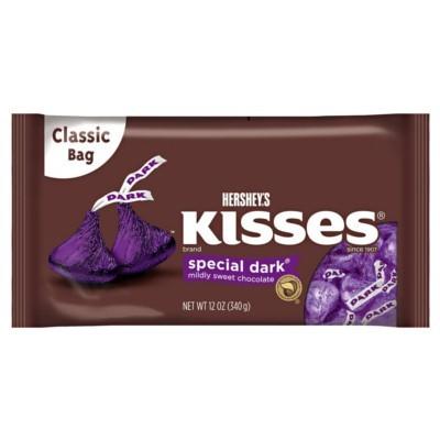 HERSHEY'S KISSES SPECIAL DARK CHOCOLATE
