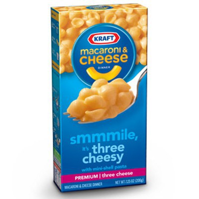 KRAFT MACARONI & CHEESE THREE CHEESE