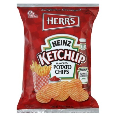 HERR'S KETCHUP POTATO CHIPS BIG