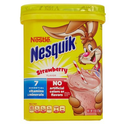 NESQUIK STRAWBERRY POWDER DRINK MIX