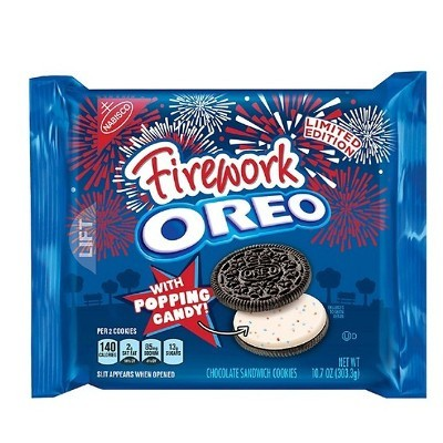 NABISCO OREO FIREWORK POPPING CANDY SANDWICH COOKIES
