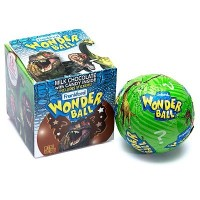 WONDER BALL DINOSAUR CHOCOLATE EGG WITH CANDY & STICKERS