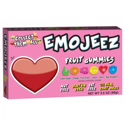 CLEARANCE - EMOJEEZ FRUIT GUMMIES HEART
