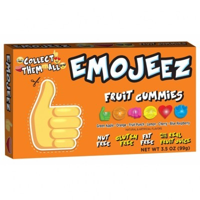 CLEARANCE - EMOJEEZ FRUIT GUMMIES THUMBS UP