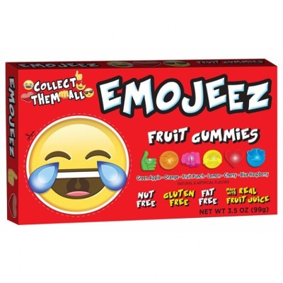CLEARANCE - EMOJEEZ FRUIT GUMMIES LAUGHING & CRYING