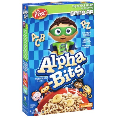 POST ALPHA BITS CEREAL