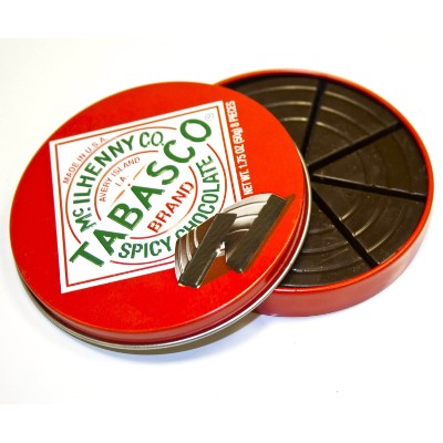 TABASCO SPICY DARK CHOCOLATE WEDGES TIN