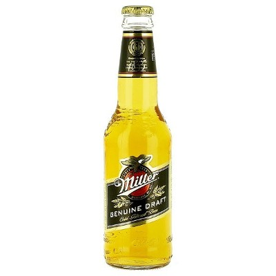 MILLER GENUINE DRAFT BEER  BOTTLE
