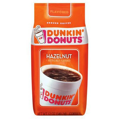 DUNKIN DONUTS GROUND COFFEE HAZELNUT