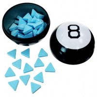 MAGIC 8 BALL FORTUNE CANDY TIN BLUE RASPBERRY