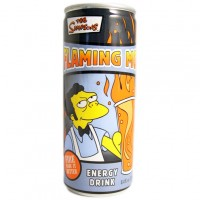THE SIMPSONS FLAMING MOE ENERGY DRINK CAN