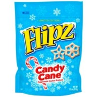 CLEARANCE - FLIPZ CANDY CANE PEPPERMINT COATED PRETZELS