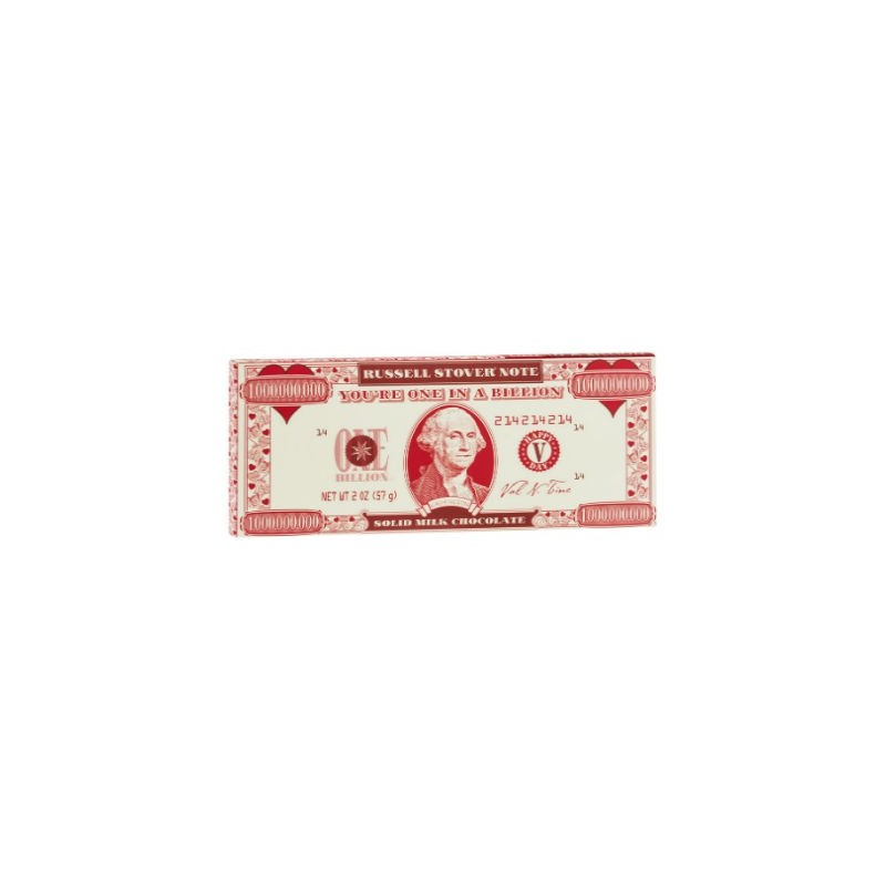 Buy russell stover solid milk chocolate money bar for Food bar russell