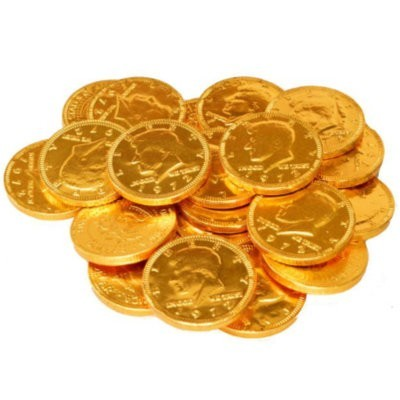25 CENTS CHOCOLATE GOLD COINS BULK (700)