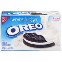 NABISCO OREO WHITE FUDGE SANDWICH COOKIES