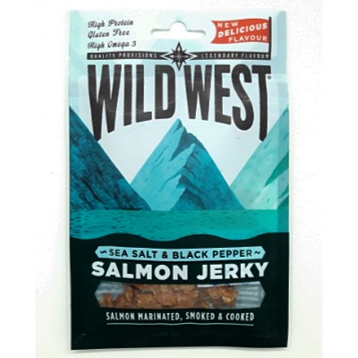 WILD WEST SALMON JERKY SEA SALT & PEPPER