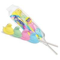 PEEPS CHICKS MARSHMALLOW RAINBOW POPS